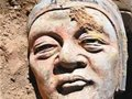 辽上京西山坡佛寺遗址出土辽金泥塑罗汉像